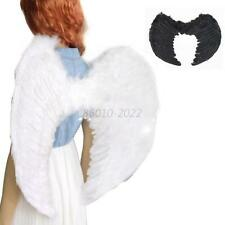 Angel Wings Fancy Dress Fairy Feather Costume Outfit  Adult Kids Party Cosplay