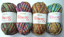 5x50g =250g Job Lot Sirdar Folksong Chunky Wool Blend Self-patterning Yarn