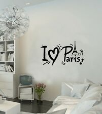 Paris Wall Decal French France Paris Eiffel Tower Paris Inspirational Wall Stick