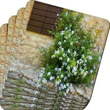 Rikki Knight Tuscan Window with Flowers Design SoSquare ft Beer Coasters (Set of