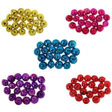 20pcs 35mm Jingle Bells DIY Christmas Decoration Pendants Jewelry Crafts