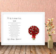 Personalised High Quality Box Frame,Wife,Husband,gf,Valentines,Gift,Print A4