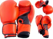 Pro Style Heavy Leather Boxing Bag Training Gloves Fight Punch Mitts MMA