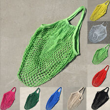 New Reusable String Shopping Grocery Cotton Bag Shopper Tote Mesh Net Woven Bags