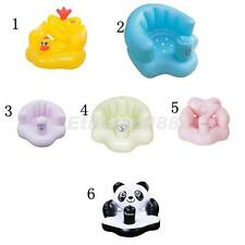 Inflatable Bath Seat with Air Pump Toddler Swim Pool Chair Baby Kids Shower Toys