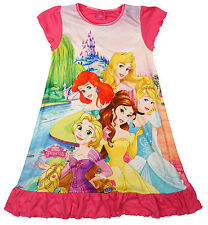 Girls Nightdress Disney Ariel Belle Princess Aurora Nightie sizes 2 to 8 Years