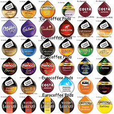 Tassimo Coffee T-discs, Capsules, pods, 4 or 8 Cups - 30 Flavours To Choose From
