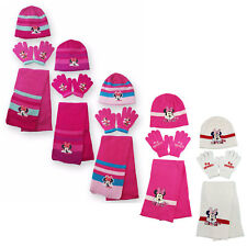 Girls Minnie Mouse Hat Gloves And Scarf 3PC Set One Size  2 to 8 Years 780506