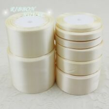 25 yards/roll Ivory Single Face Satin Ribbon Gift Wrapping Christmas wedding dec