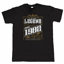 Legend Since 1982 Mens Funny T Shirt - Birthday Gift for Him Dad Grandad