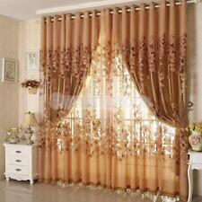 Morning Glory Voile Cortina Jacquard Curtain Customise Window Drape 2 Colors
