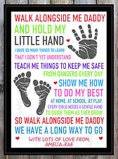 Fathers Day Gift Dad Daddy Grandad Personalised Poem - Present For Him Birthday