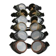 Gothic Steampunk Cyber Safety Padded Goggles Glasses for Cycling Welding Cosplay