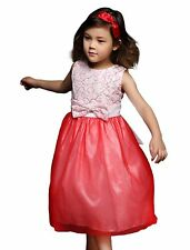 Baby Toddler Girls Lace Dress Princess Party Wedding Christmas Kids Clothes 1-7Y