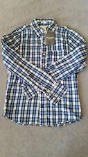NWT Abercrombie & Fitch by Hollister Mens Plaid Shirt Long Sleeve- Size S
