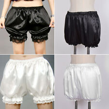 Women Cute Lolita Lace Elastic Pleated Bloomer Shorts Under Pants Safety Shorts