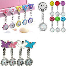 Cute Pendant Butterfly Nurse Clip-on Brooch Quartz Hanging Pocket Watch Glitzy