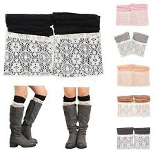 Women Lace Double Layer Leg Warmers Stretch Lace Sock
