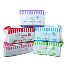 New Clean Pet Disposable Dog Doggy Puppy Diaper Diapers Nappy Packs 1 Pack