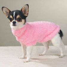 CUTE THINK PINK FUZZY DOG SWEATER BY EAST SIDE
