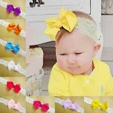 Kids Baby Girl Toddler Lace Bowknot Headband Hair Band Headwear Accessories