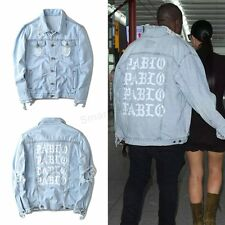 Vogue Lady Men's Denim Jacket Kanye West I FEEL LIKE PABLO Streetwear Jean Coats