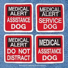 MEDICAL ALERT SERVICE DOG PATCH 2.5X2.5 in Danny & LuAnns Embroidery assistance