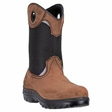 Brand New John Deere JD4609 Men's Tan WP Steel Toe Pull-On Wellington Boots