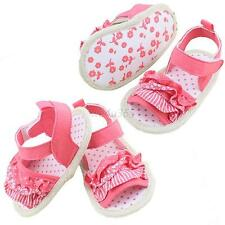 Infant Baby Girl Summer Sandal Princess Lace Soft Sole Non-slip Crib Shoes 0-18M