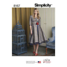 Simplicity Sewing Pattern Misses Sew Chic Dress, Lace Overlay, Midi Skirt | 8167