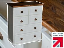 White Painted Chest,  4 over 2 Solid Wood, Pine Bedroom Chest of Drawers