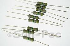 Carbon Film Resistors Axial Lead 1W 5% 6.2K Ohm - 10M Ohm options 10pcs
