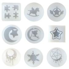 9 TYPES DIY SILICONE MOLDS Jewelry Making Accessories Crafts Tools Pendant Mould