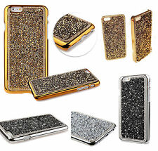 For iPhone 7 /7Plus 6G 5S Bling Rhinestone Glitter Crystal Hard Back Case Cover