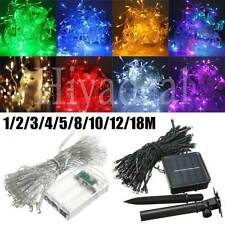 1-50M LED Battery/Solar Fairy String Light Outdoor Wedding Xmas Party Lamp DYIC