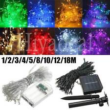 50M LED Battery/Solar Fairy String Light Outdoor Wedding Christmas Party Lamp AA