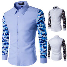 Spring men's Fashion double color shirt long sleeves casual tops Turndown shirt