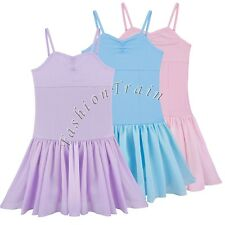 Girls Kids Gymnastics Ballet Sports Dress Leotard Tutu Skirt Dance wear Costume
