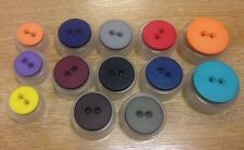 Flat penny coin style buttons 18 23 28mm Union Knopf John Lewis 2 sew hole x5