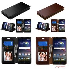 For MOTOROLA MOTO G 3 3rd GEN Leather Wallet Flip Case Cover Stand Pouch BROWN