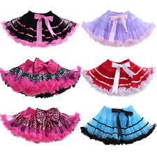 Toddler Girls Kids Tutu Tulle Skirt Dance Party Christmas Dancewear Pettiskirt