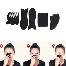 Chinese Traditional Gua Sha Black Horns Scraping Body Care Massager Health Care