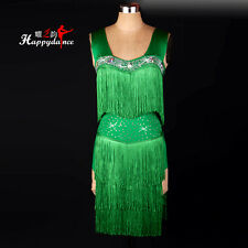 NEW Latin Salsa Cha Cha Rumba Samba Ballroom Competition Tassel Dance Dress L057
