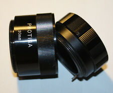 Vintage Photina M42 auto extension tubes set to 2pc w/blinking diafragma