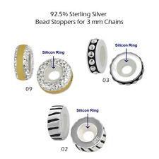 925 Sterling Silver Beads for European Charm Bracelet Necklace Theme-Stopper