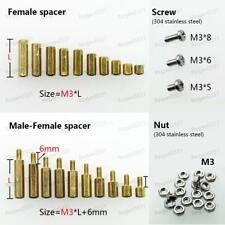 25/50/100pcs Brass M3 Hex Column Standoff Support Spacer Screw Nut for PCB Board