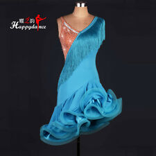 Women's Latin Salsa Cha Cha Rumba Samba Ballroom Competition Tassel Dance Dress