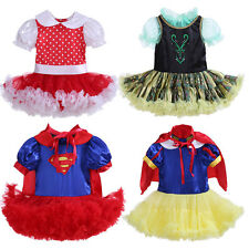 Girl Frozen Anna Supergirl Snow White Costume Outfit Kids Party Fancy TUTU Dress