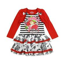 NWT Strawberry Shortcake Girls Shrug Ruffle Dress Size 5 & 6 (size 6 NWOT)