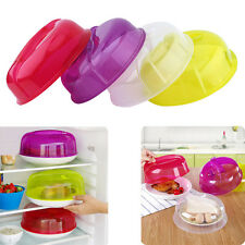 Kitchen Plastic Microwave Food Dish Cover Plate Steam Vent Splatter Lid Tool CD
